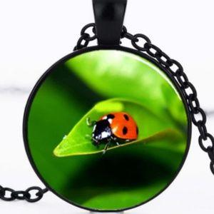 Necklace- NEW- Ladybug